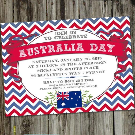 Australia Day PRINTABLE Party Invitation