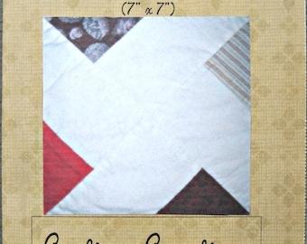 Pinwheel X Paper Pieced Quilt Block Pattern