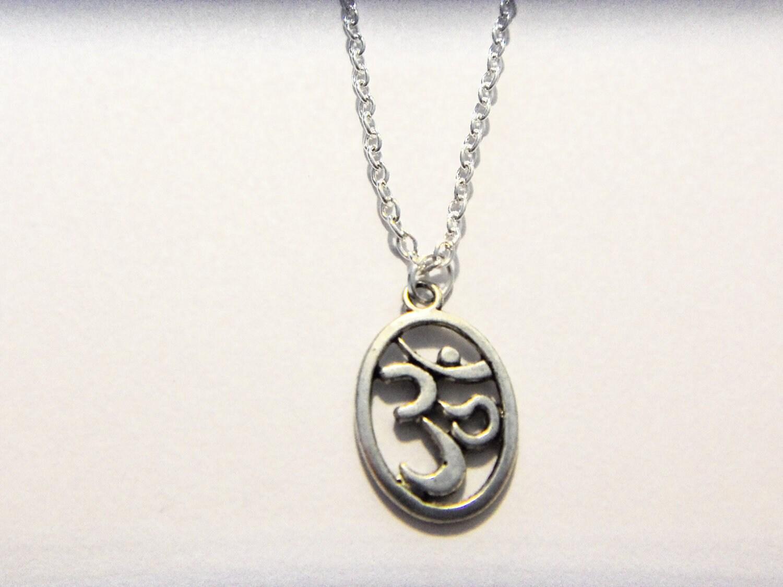 ohm necklace jewelry om symbol charm by