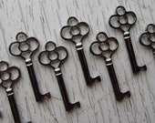 Belcourt Skeleton Key in Gunmetal/Black - Set of 10