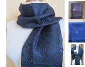 printed Dark Navy Pashmina Scarf, Shawl, Wrap, bridal shawl, bridesmaids shawl, bridal gift
