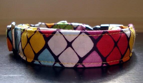 """Retro Glitz - Eco Dog Collar (3/4"""" Wide)"""