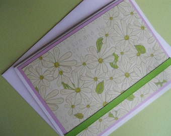 Daisy's, Flowers, Handmade Set of 4 Cards, Stationery, Mother's Day Gift