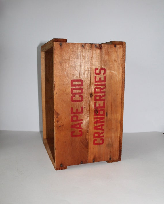 Vintage Cape Cod Cranberry Crate Or Wood Box
