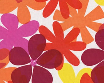 Michael Miller - Tropical Island in Tangerine - By The Yard (2 YARDS LEFT)