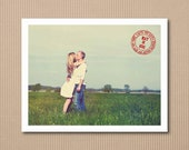 Postcard Save the Date - Vintage Postmark - 100 Photo Save the Date Cards