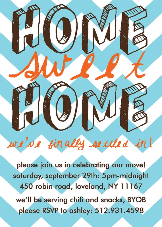 Home Sweet Home, Housewarming Party Invitation: PRINT-YOUR-OWN