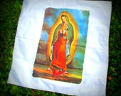 Virgin of Guadalupe Handkerchief Bandana Cotton with Rubbery Print