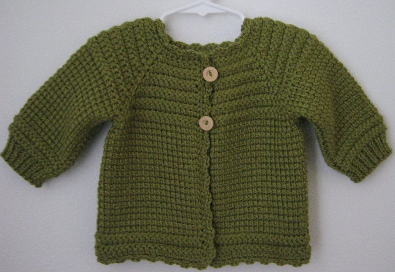 Leaf green crochet baby girl sweater made to order 6 12 zoom bankloansurffo Gallery