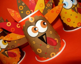 Thanksgiving Turkey Craft, Place Card for Kids