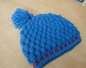 Blue hat -baby hat - crochet hat - baby crochet - kids hat- kids beanies - childrens hat - kids accessories - baby accessories