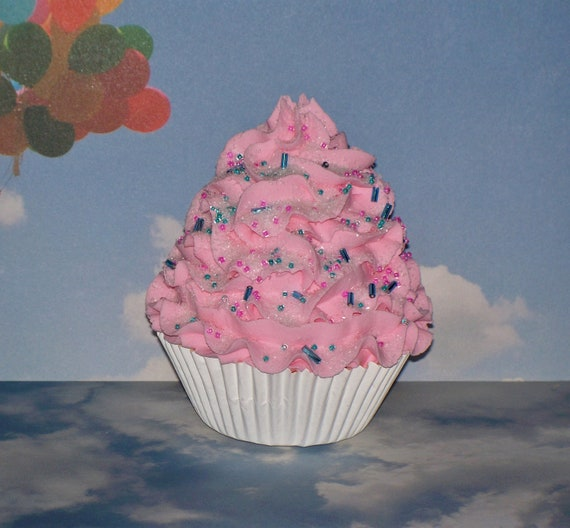 Fake Cotton Candy: Cotton Candy Pink Fake Cupcake Photo Prop By