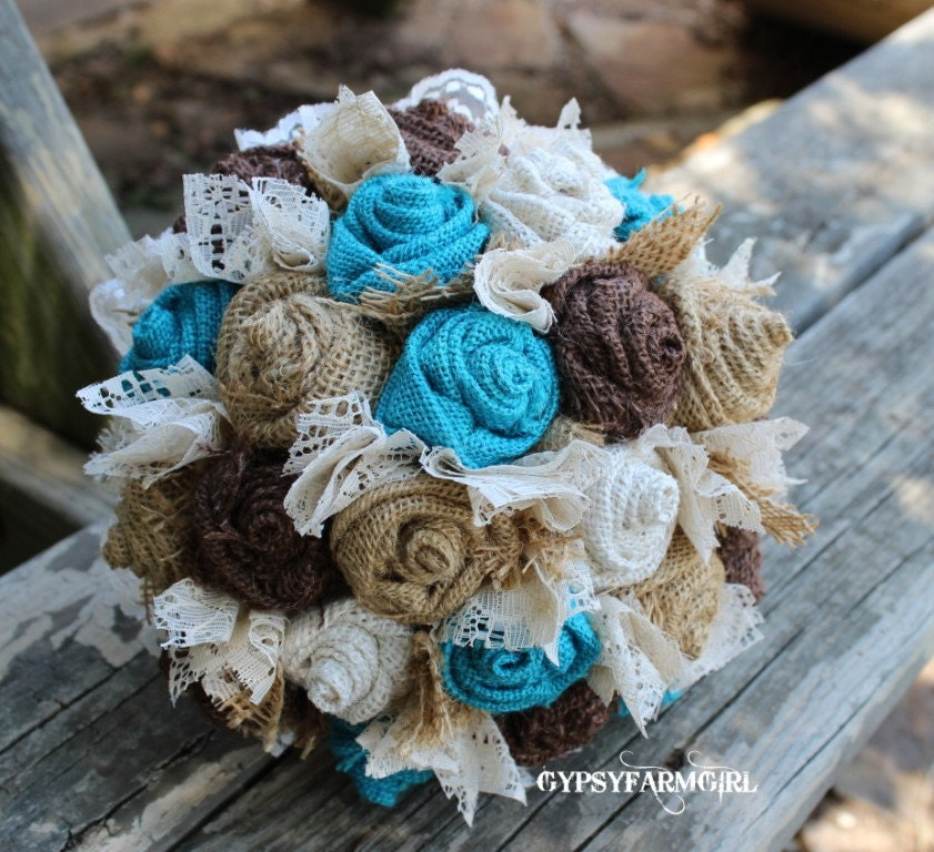 Wedding Cake Chocolate Brown Teal