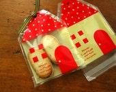 Little Red House Self Sealing Cellophane Bag Set of 20