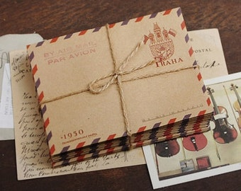 Kraft Envelope (Set of 10) - PRAHA (Prague)