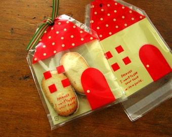 Red House Self Sealing Cellophane Bag Set of 20