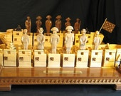 Chess Set War of 1812 Chess Set handmade on etsy          custom themed chess sets and chess boards