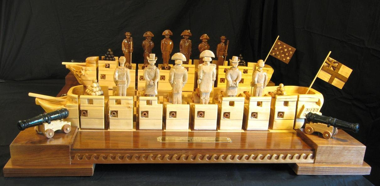 chess set war of 1812 chess set handmade on etsy