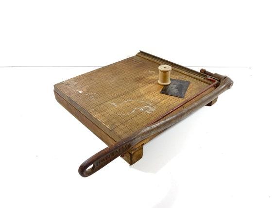 Vintage Paper Cutter / Ingento No. 4 / Industrial Trimmer