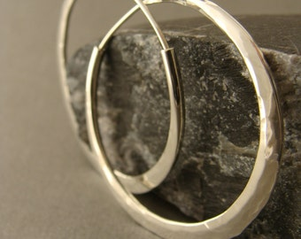 hoop earrings sterling silver 1 1/2 inches endless style