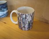 Blueberry and Birch Coffee Mug Marquette,Mi.