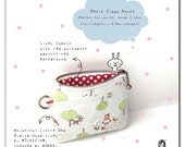 Petit Zippy Pouch - Little Red Riding Hood (Dusty Blue)