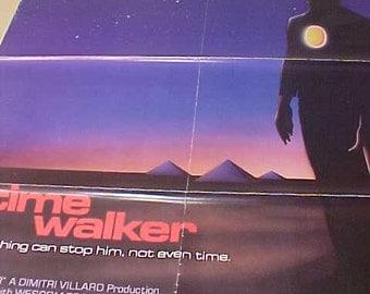 Time Walker 1 Sh Movie Poster vintage 80s  Original One Sheet Rare