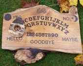 Ouija Board Classic Sun Moon Hand painted Wooden Spirit Board Game with Planchette Walut Slab