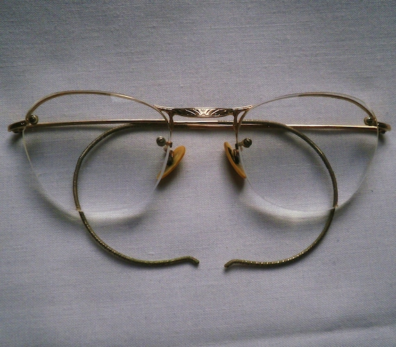 Vintage Gold Filled Wire Rim Glasses In Case by antiquario ...