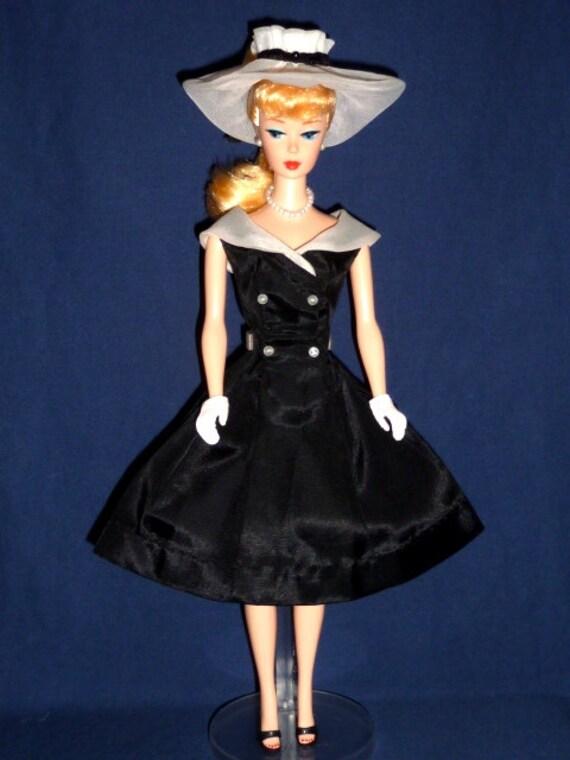 Vintage Barbie After Five 5 Black Amp White Dress Hat By