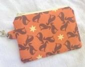 Orange Greyhound Small Zippered Pouch