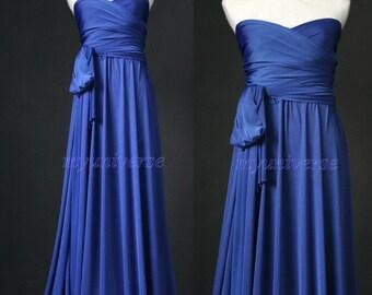 Royal Blue Maxi Dress Bridesmaid Dress Infinity Dress Wrap Convertible Dress Women Formal Evening