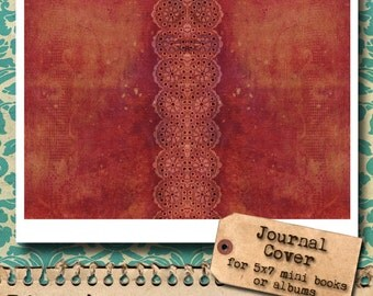 Shabby Chic Lace Journal Cover - digital download