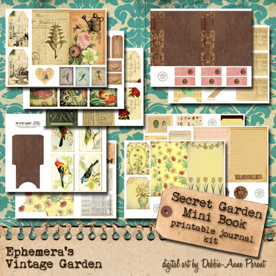 The Secret Garden Printable Journal Kit