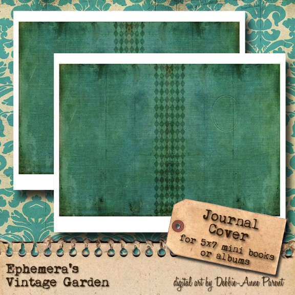 Vintage Book Cover Journal : Printable journal cover vintage book style