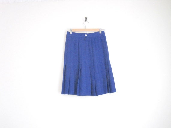 vintage 80s skirt high waist accordian pleated skirt royal