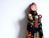 vintage folk art doll handmade