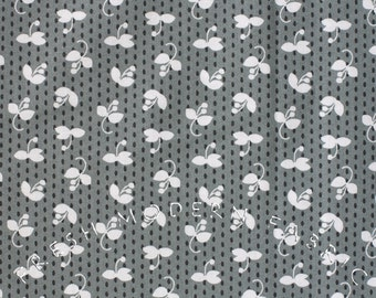 Half Yard Madrona Road Sprout in Charcoal, by Violet Craft for Michael Miller Fabrics, 100% Cotton Fabric