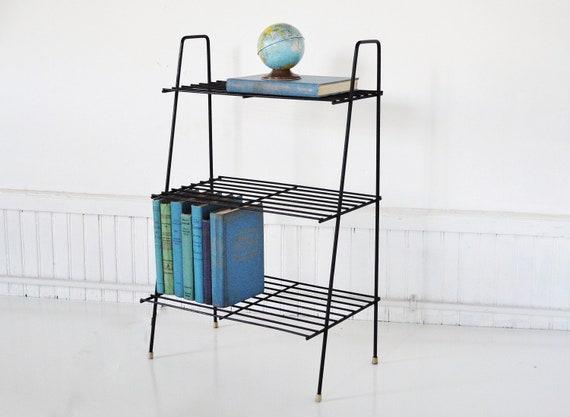 Mid-Century Wire Bookshelf / Magazine Rack