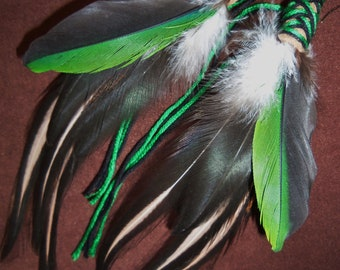 Feather Earrings- Attracting Abundance- Long Feather Earrings- Ready to Ship