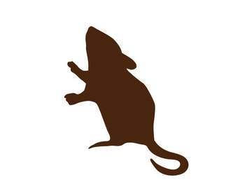 Mouse Stencil for Painting Kids or Baby Room Wall Mural (SKU135-istencil)