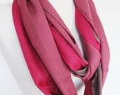 Pink Organic Cotton Scarf, Long Scarf, Gift For Her