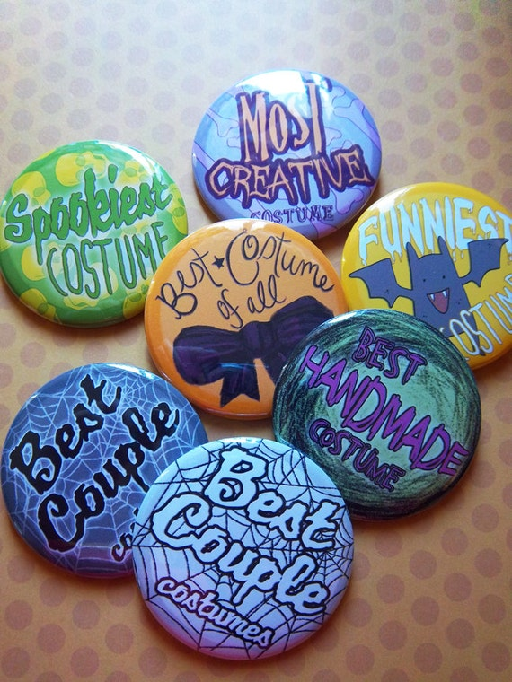 Costume Award Pack  // 2 1/4 Inch Pinback Buttons