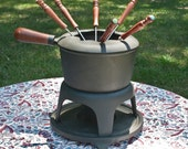 Cast Iron Fondue FREE Shipping In the USA