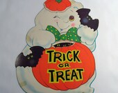 1970s Friendly Ghost Halloween Decoration, 100a