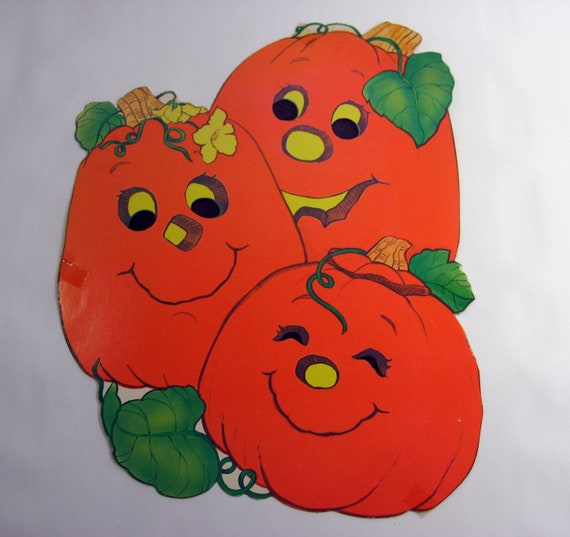 1980s pumpkin patch halloween decoration 100a by munnypenney for 1980s decoration