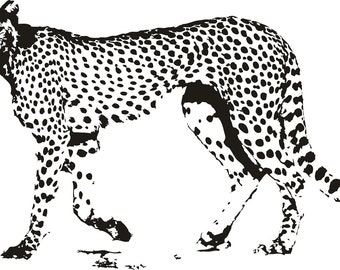 Cheetah Vinyl Decal, Wall Sticker, Wall Tattoo