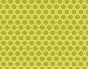 1 yard of Sweet Nothings by Zoe Pearn for Riley Blake in Green Dots