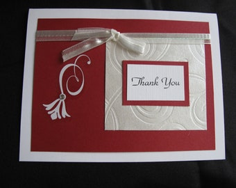 Thank You - Red Spiral Card