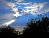 Clouds Over The Sonoran Desert  Fine Art Print 16x20 on Canvas